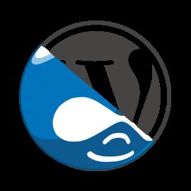Wordpress Drupal Logos
