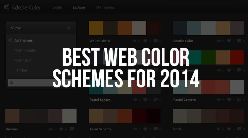 Best Color Schemes web design: best web color schemes for 2014 - the dill design